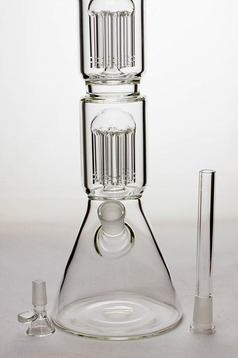 "20"" Infyniti 7 mm thickness Dual 8-arm glass water bong - One wholesale Canada"