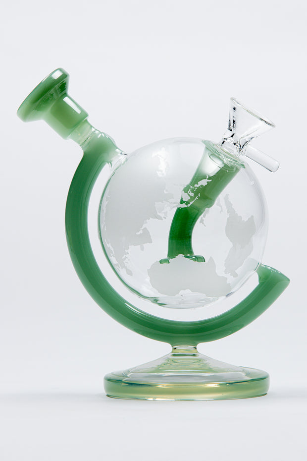 5,7'' Glass Bong Dab Rig Globe Recycler bubbler