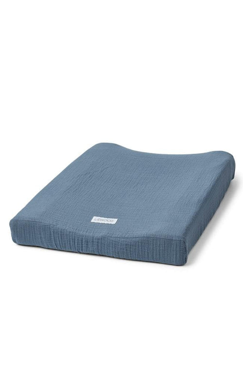 Cliff Muslin Changing Mat Cover - Blue Wave