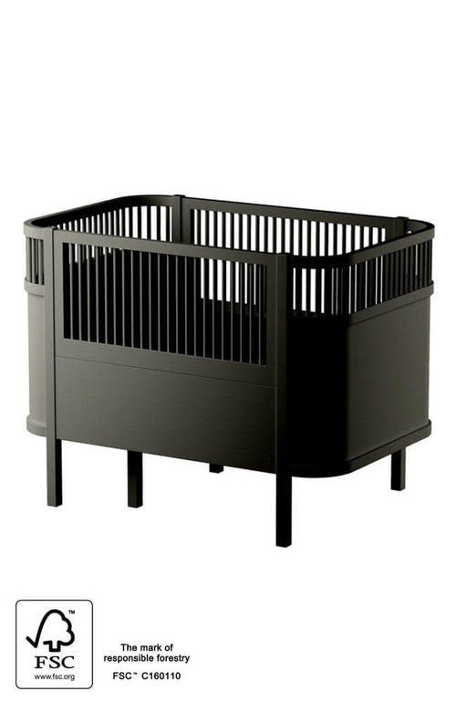 Sebra baby & jr bed - Black wooden edition - Stækkanlegt