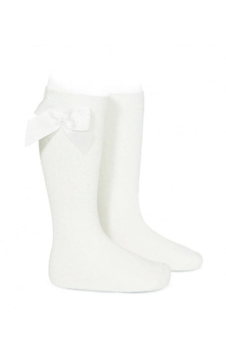 Rib Knee-high Socks - 756 Grængráir