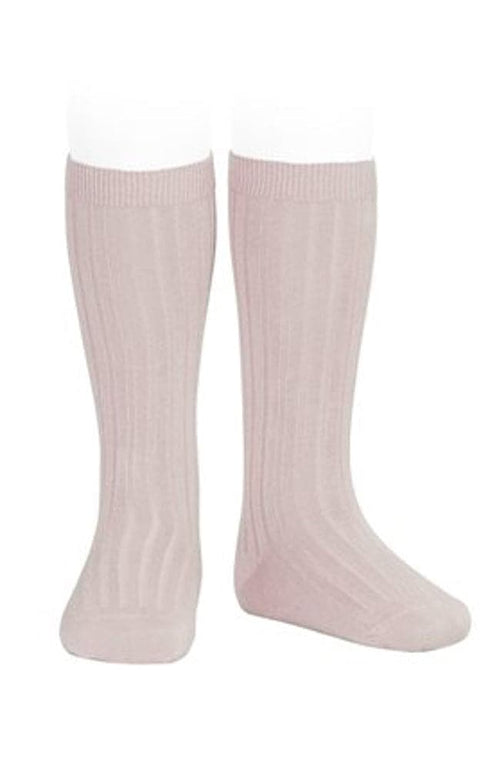 Rib Knee-high Socks - 544 Old Rose