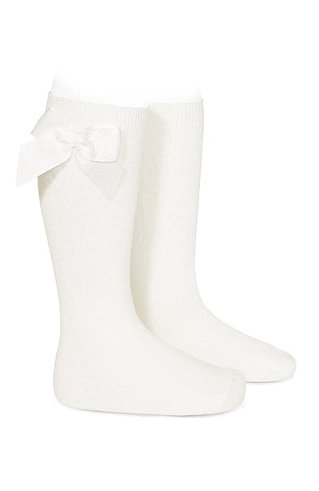 Rib Knee-high Socks - 900 Svartir