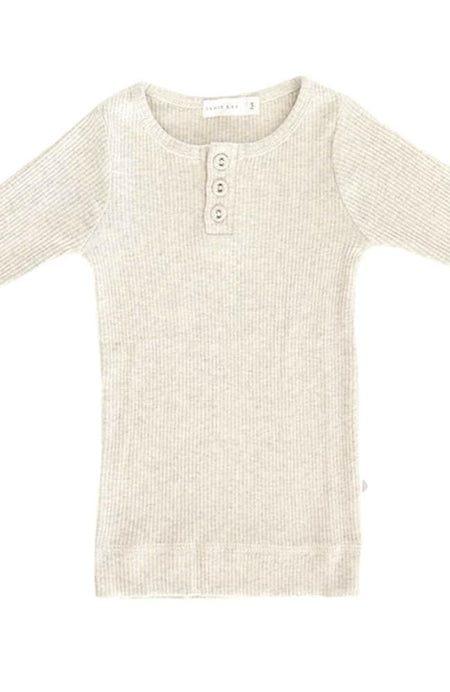Newborn Rib Suit - Oat/Off White