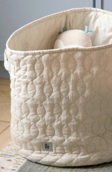 Quilted Basket 48 l. - Straw Beige