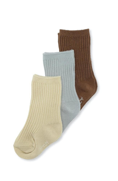 Rib Socks 3 pack - Breen/Mint/Sahara Sun