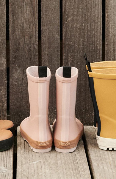 River Rain Boot - Dark Rose/Mustard