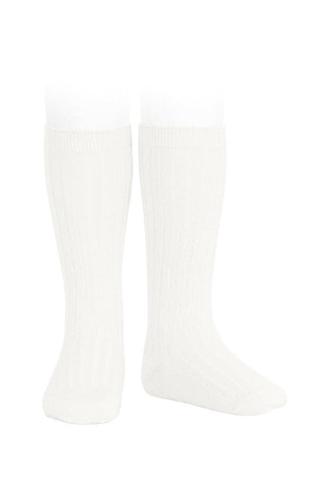 Knee-high Socks w. Fur PomPom - 221 Grey