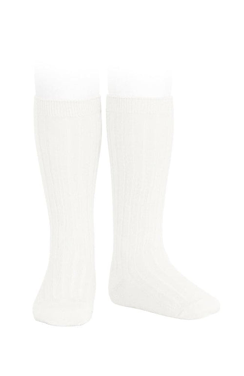 Rib Knee-high Socks - 202 Cream