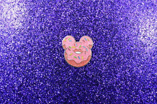 Magical Mouse Donut Pin - Glitter
