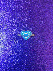 Saturn Heart Rainbow Series: Blue Pin