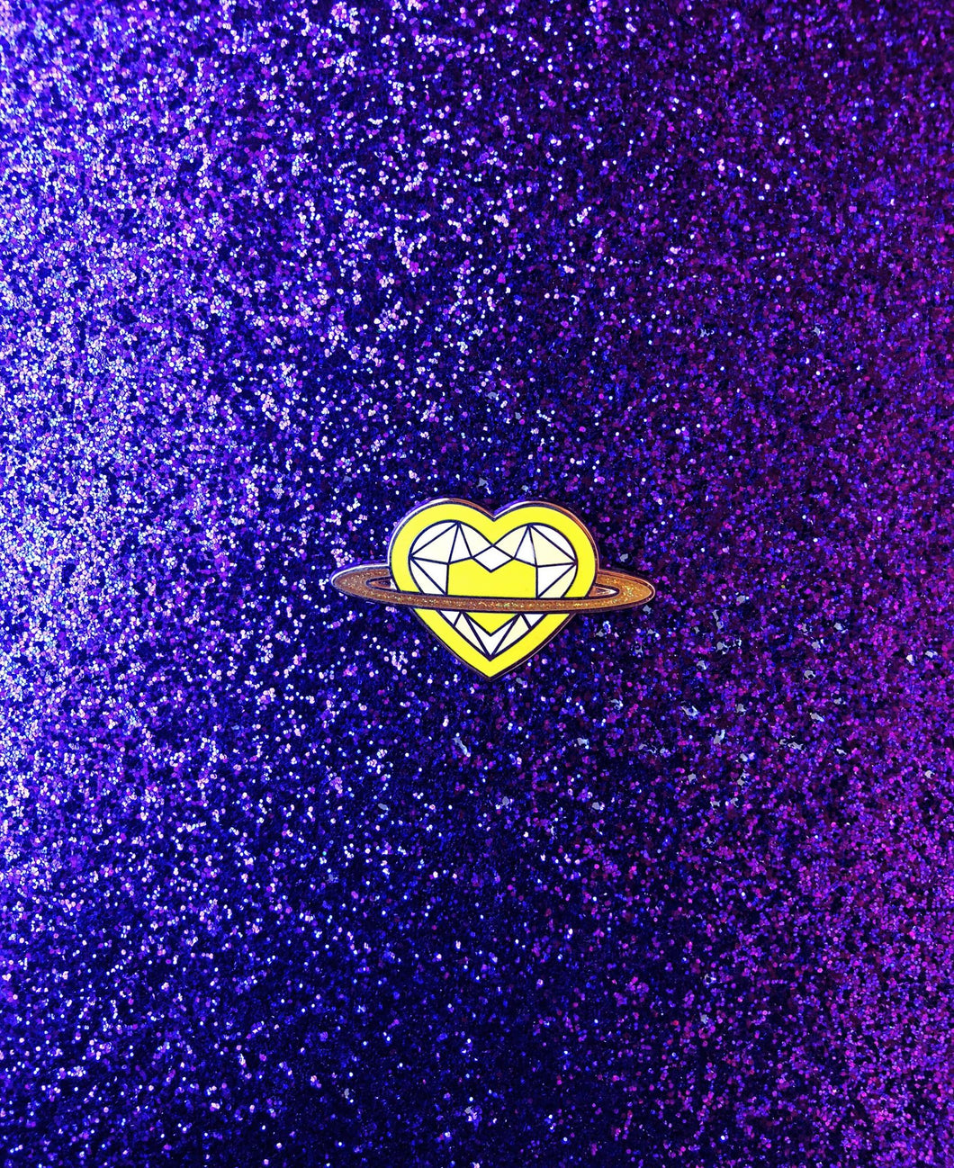Saturn Heart Rainbow Series: Yellow Pin