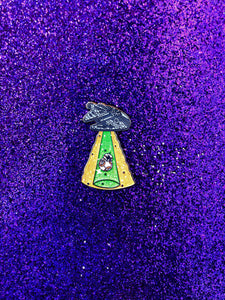 Unidentified Falcon Object Pin - Green and Orange