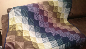 Mitred squares blankets