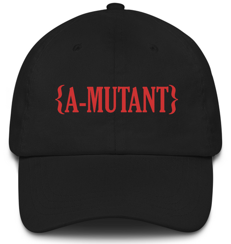 A-MUTANT BLACK EMBROIDERED CAP