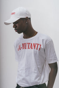 A-MUTANT WHITE EMBROIDERED CAP