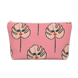 Pink Leaves Pouch