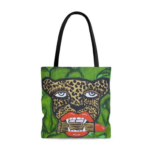 Cheetah With Lipstick Tote Bag