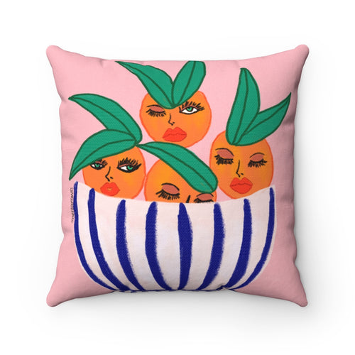 Sassy Oranges Square Pillow