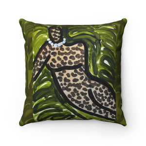 Leopard Figure II Square Pillow