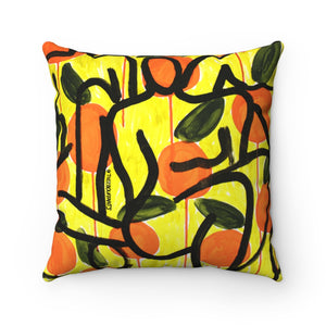 Citrus Figures Square Pillow
