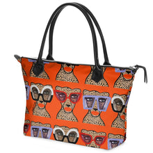 Cheetah In Shades Leather Tote
