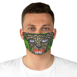 Cheetah With Lipstick Fabric Face Mask
