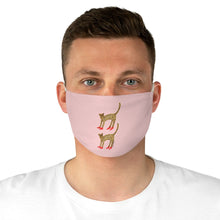 Cheetah In Heels Fabric Face Mask