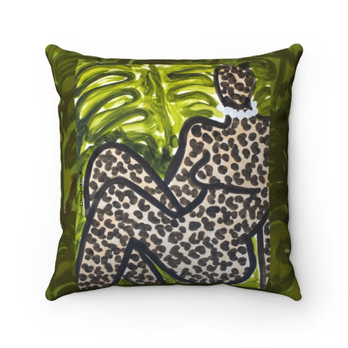 Leopard Figure I Square Pillow