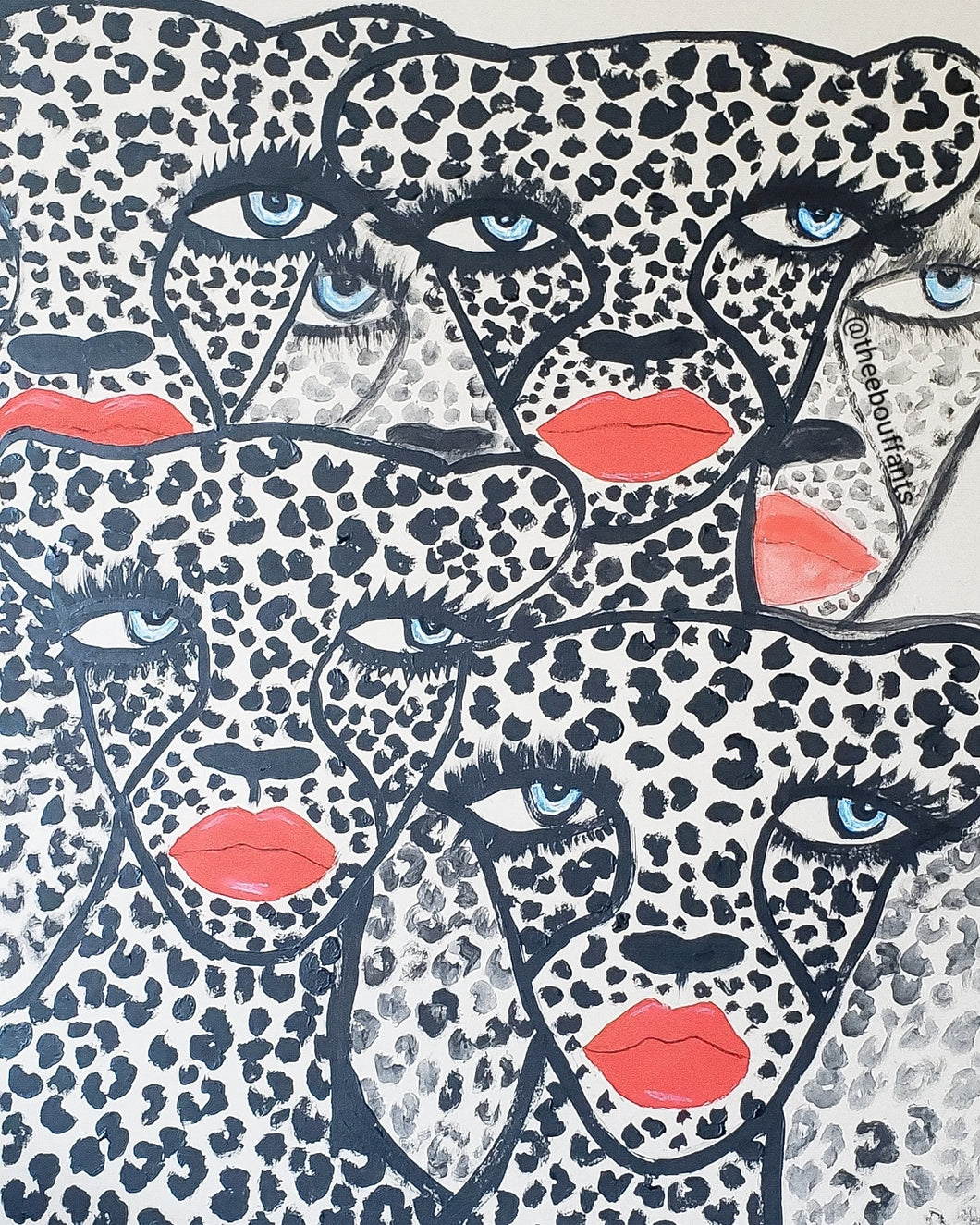 Multi Cheetahs Original Drawing