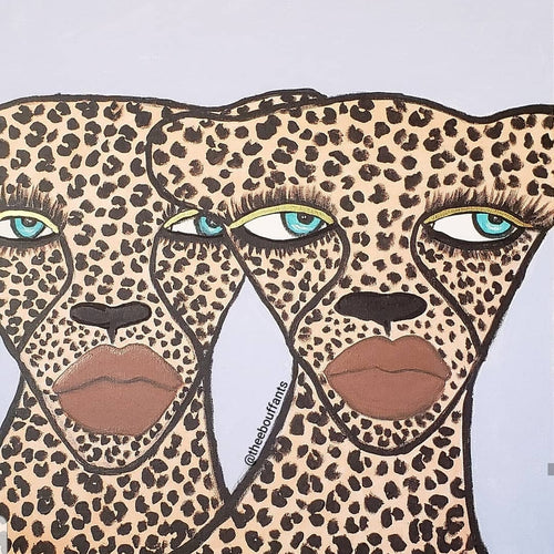 Two Cheetahs Original Canvas Painting