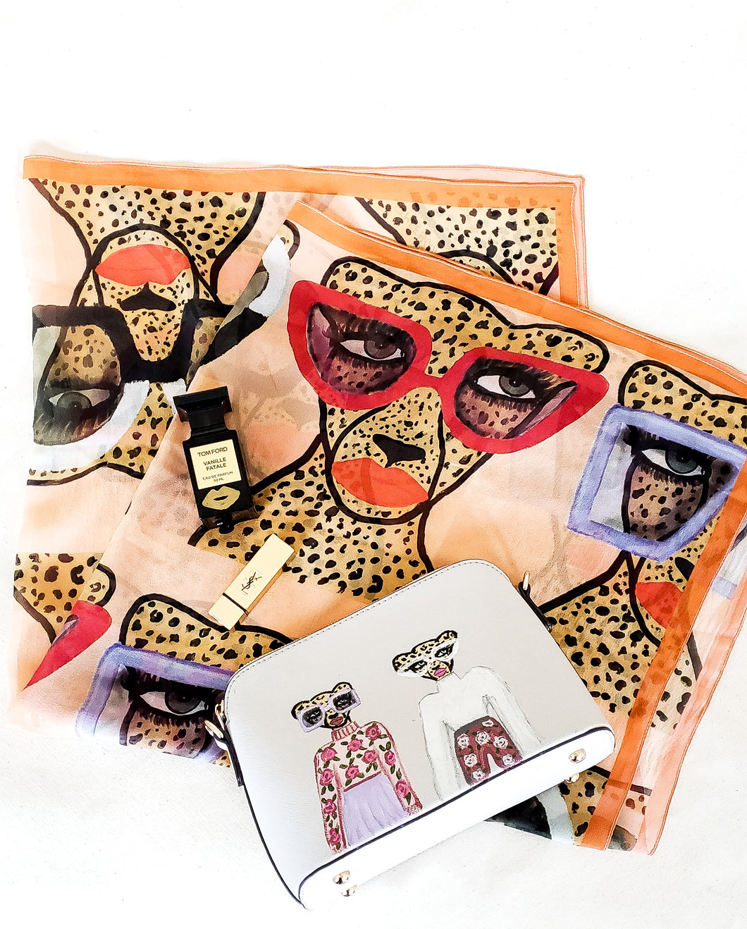 Cheetah In Shades Silk Scarf