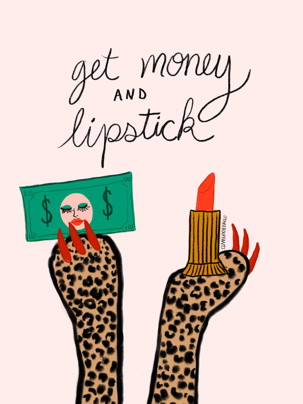 Get Money And Lipstick Print
