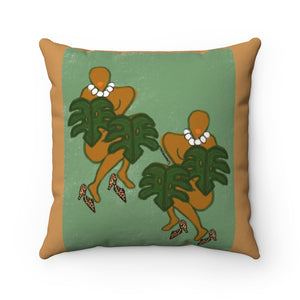 Leaf Babes Square Pillow