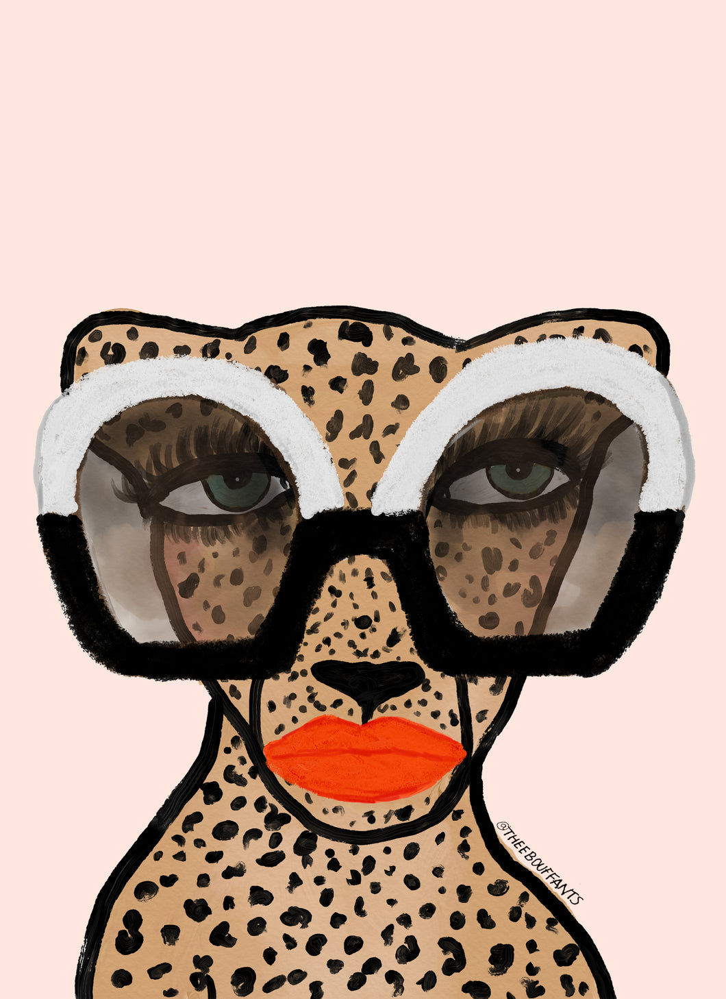 Cheetah In Shades Print
