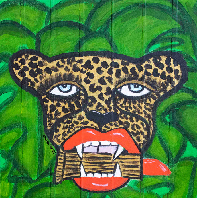 Cheetah With Lipstick Original Painting