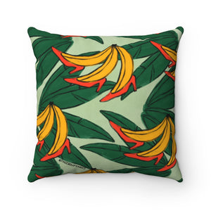 Banana In Heels Square Pillow