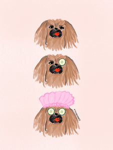 Spa Day Pekingese Print