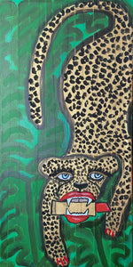 Cheetah With Lipstick II Original Painting