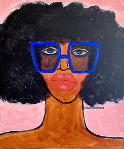 Blue Shades Original Painting