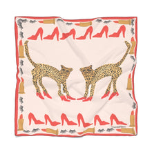 Cheetah In Heels Silk Scarf