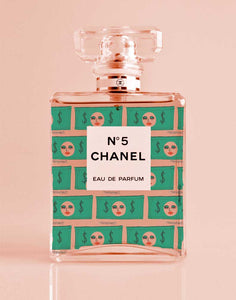 Money Chanel Perfume Print