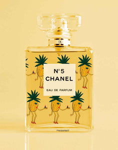 Pineapple Girls Chanel Perfume Print