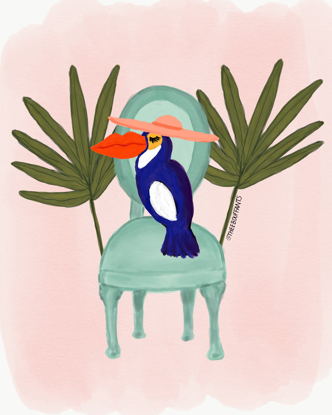 Toucan In A Chair Print
