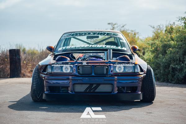 front view of BMW E36 with custom Front Lip
