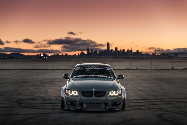 front view of BMW E92 with Custom Wide Body Kit