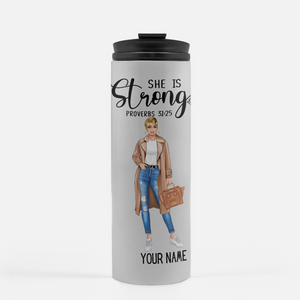 She is Strong - Thermal Tumbler (Personalized)