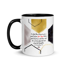 Load image into Gallery viewer, 2 Timothy 1:7 Personalized Mug with Color Inside