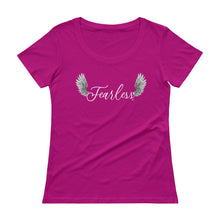Load image into Gallery viewer, Fearless - Ladies' Scoopneck T-Shirt