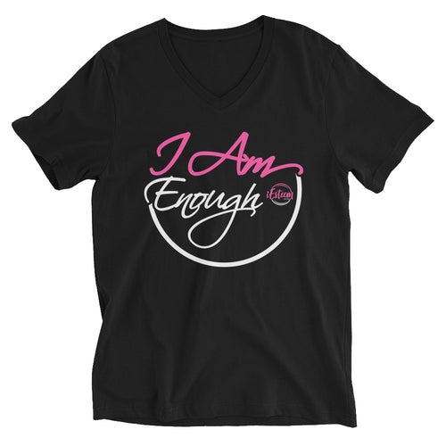I Am Enough - Short Sleeve V-Neck T-Shirt